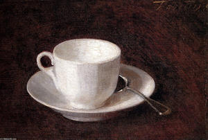 Henri Fantin Latour - White Cup And Saucer