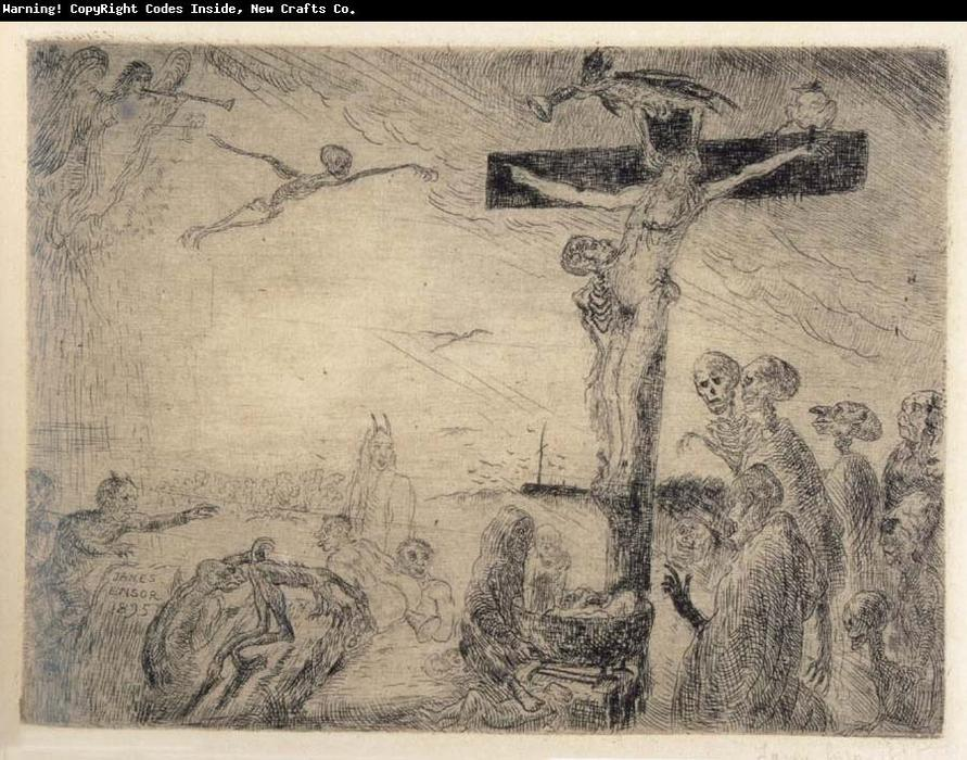 Christ Tormented by Demons by James Ensor (1860-1949, Belgium) | Painting Copy | WahooArt.com