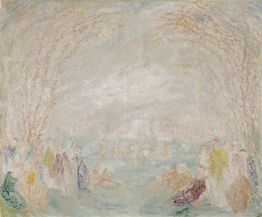 La ballet faserique, Oil by James Ensor (1860-1949, Belgium)