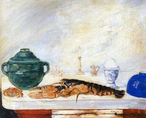James Ensor - Nature morte a l' oeuf au homard et au crabe