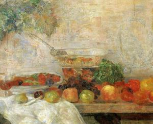 James Ensor - Nature morte aux fruits et au perroquet