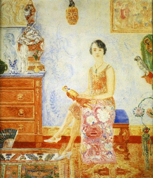 Portrait d` Alexandra Daveluy by James Ensor (1860-1949, Belgium) | Oil Painting | WahooArt.com