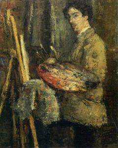James Ensor - Portrait de l' artiste au chevalet