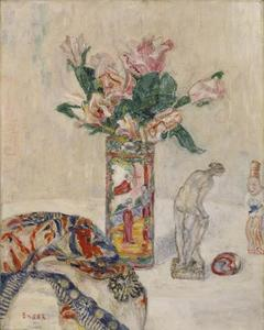 James Ensor - Still Life with Vase of Flowers