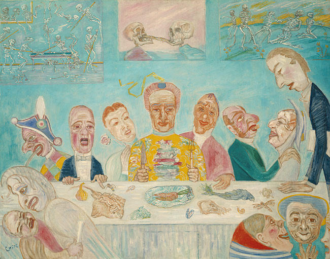 The Banquet of the Starved by James Ensor (1860-1949, Belgium) | WahooArt.com