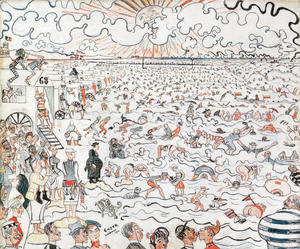 James Ensor - The Baths at Ostend