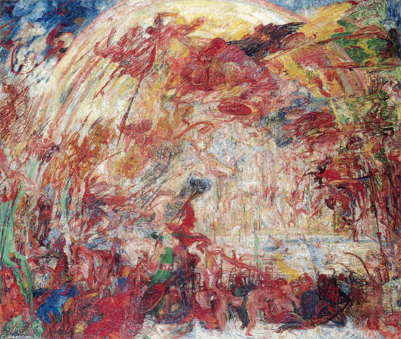 The Fall of the Rebellious Angels by James Ensor (1860-1949, Belgium) | WahooArt.com