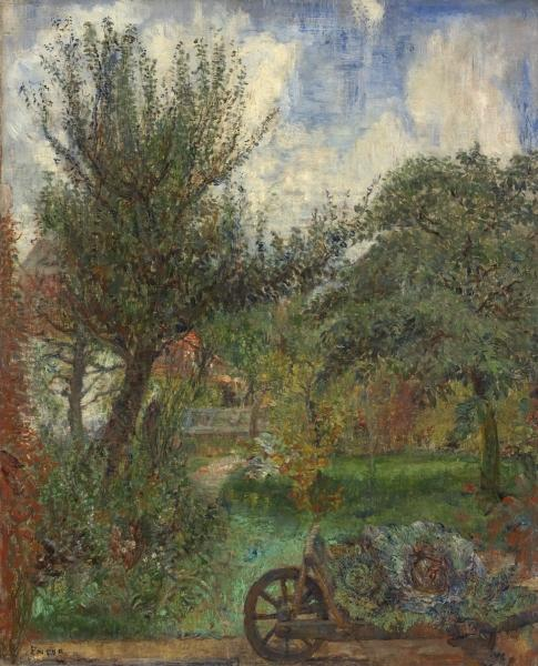 The Garden of the Rousseau Family, Oil by James Ensor (1860-1949, Belgium)