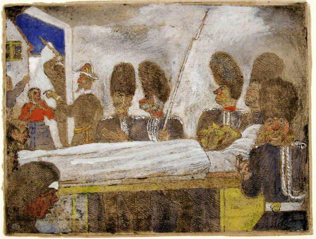 The Gendarmes 1 by James Ensor (1860-1949, Belgium) | Famous Paintings Reproductions | WahooArt.com