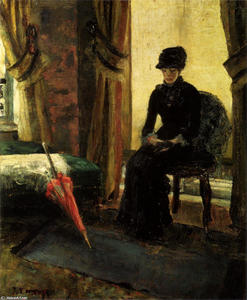 James Ensor - The Somber Lady (The Lady in Black)