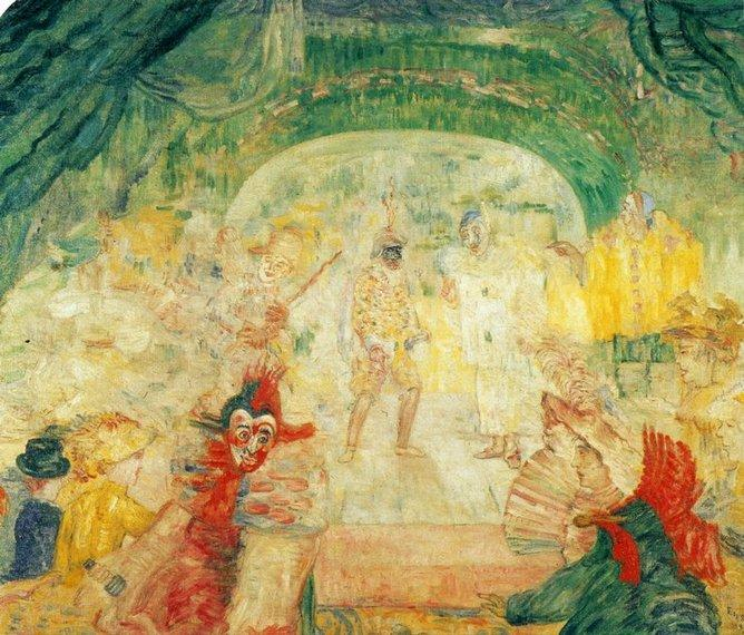 The Theater of the masks by James Ensor (1860-1949, Belgium) | Art Reproduction | WahooArt.com