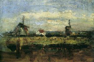 James Ensor - The two mills