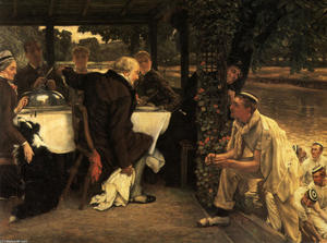 James Jacques Joseph Tissot - The Prodigal Son in Modern Life. The Fatted Calf