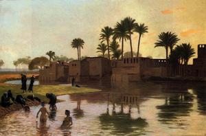 Jean Léon Gérôme - Bathers by the Edge of a River