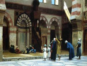 Jean Léon Gérôme - Prayer in the Mosque of Caid Bey, in Cairo