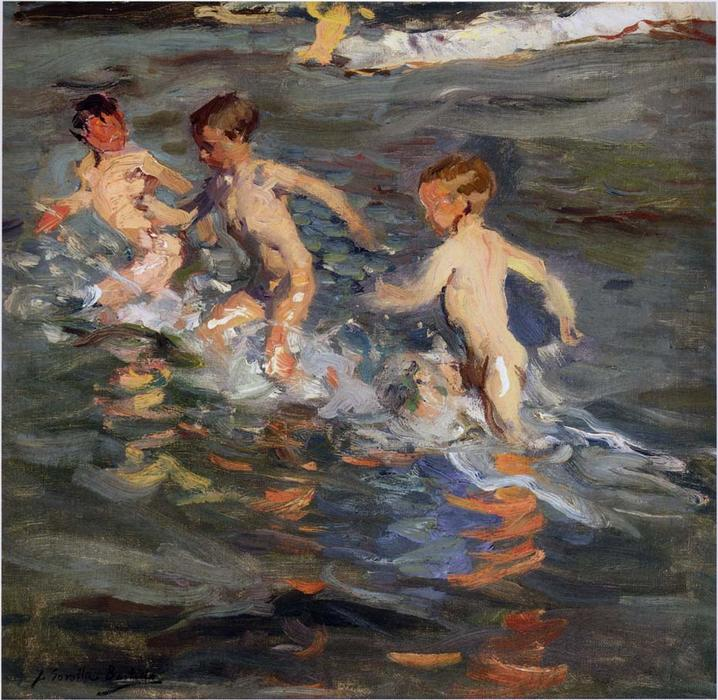 Children at the beach, Oil On Canvas by Joaquin Sorolla Y Bastida (1863-1923, Spain)