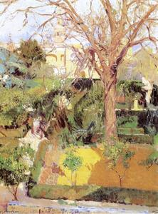 Joaquin Sorolla Y Bastida - Gardens of the Alcázar of Seville in Wintertime