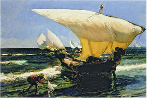 Joaquin Sorolla Y Bastida - On the Coast of Valencia