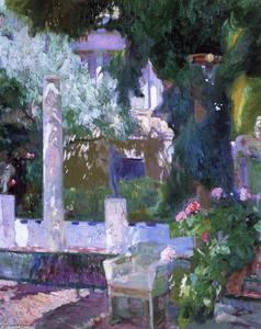 Joaquin Sorolla Y Bastida - Rose Bush at the Sorolla House