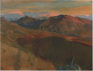 Joaquin Sorolla Y Bastida - The cemetery at Sierra Nevada, Granada