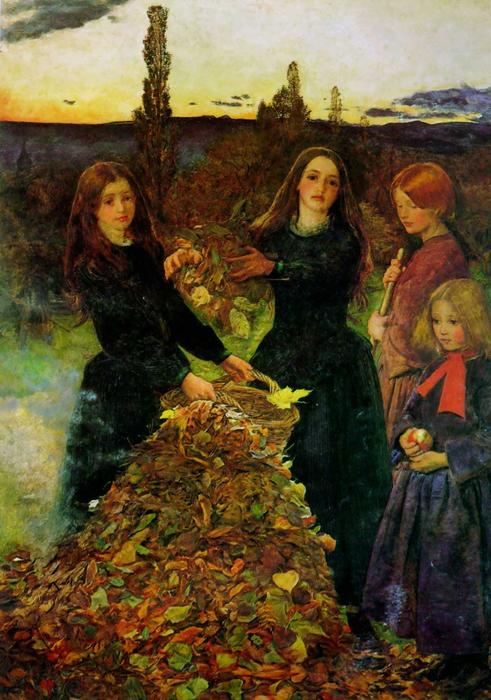 Autumn Leaves, Oil On Canvas by John Everett Millais (1829-1896, United Kingdom)