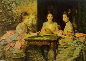 John Everett Millais - Hearts are Trumps