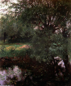 John Singer Sargent - A Backwater at Wargrave