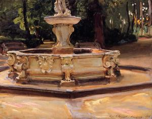 John Singer Sargent - A Marble fountain at Aranjuez, Spain