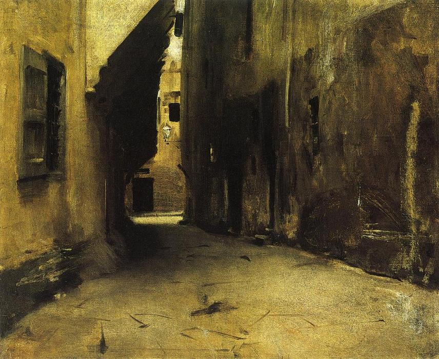 A Street in Venice 1, Oil by John Singer Sargent (1856-1925, Italy)