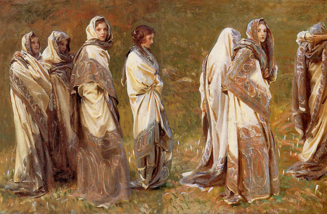 Cashmere, Oil On Canvas by John Singer Sargent (1856-1925, Italy)