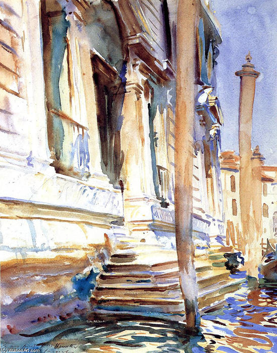 Doorway of a Venetian Palace, 1907 by John Singer Sargent (1856-1925, Italy) | Art Reproductions John Singer Sargent | WahooArt.com