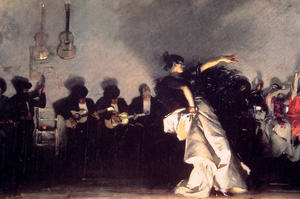 El Jaleo, Oil On Canvas by John Singer Sargent  (order Fine Art painting copy John Singer Sargent)