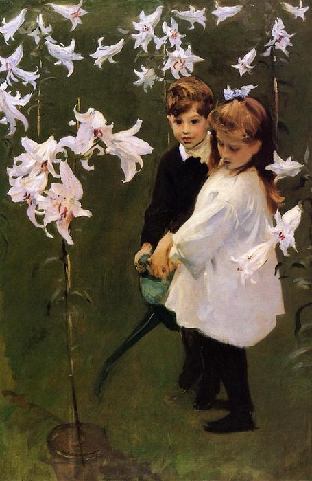 Order Paintings Reproductions | Garden Study of the Vickers Children, 1884 by John Singer Sargent (1856-1925, Italy) | WahooArt.com