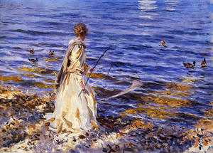 John Singer Sargent - Girl Fishing