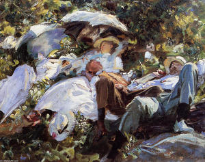 John Singer Sargent - Group with Parasols