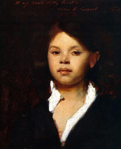 John Singer Sargent - Head of an Italian Girl