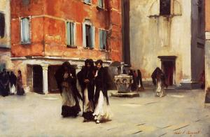 John Singer Sargent - Leaving Church, Campo San Canciano, Venice