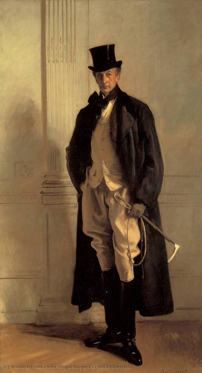 Lord Ribblesdale, Oil On Canvas by John Singer Sargent (1856-1925, Italy)