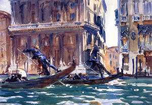 John Singer Sargent - On the Canal