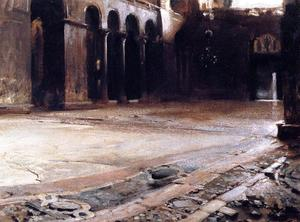 John Singer Sargent - Pavement of St. Mark-s
