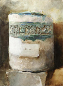 John Singer Sargent - Persian Artifact with Faience Decoration