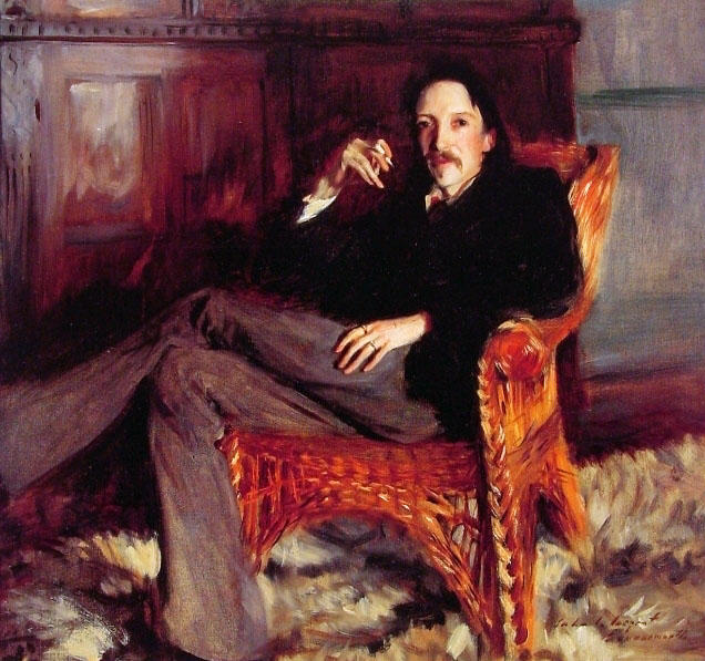 Robert Louis Stevenson by John Singer Sargent (1856-1925, Italy) | Museum Quality Reproductions | WahooArt.com