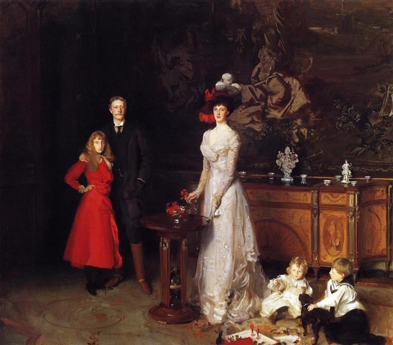 Sir George Sitwell, Lady Ida Sitwell and Family, Oil On Canvas by John Singer Sargent (1856-1925, Italy)