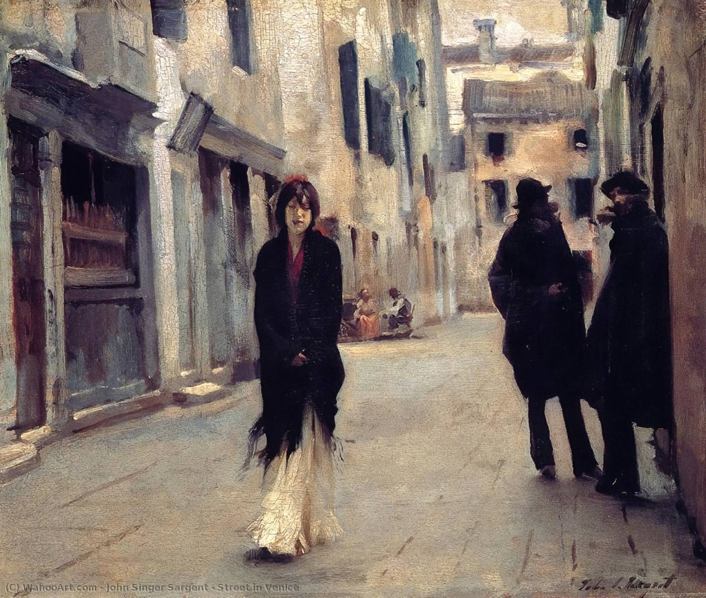 Street in Venice, Oil On Panel by John Singer Sargent (1856-1925, Italy)