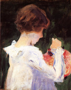 John Singer Sargent - Study of Polly Barnard for --Carnation, Lily, Lily, Rose--