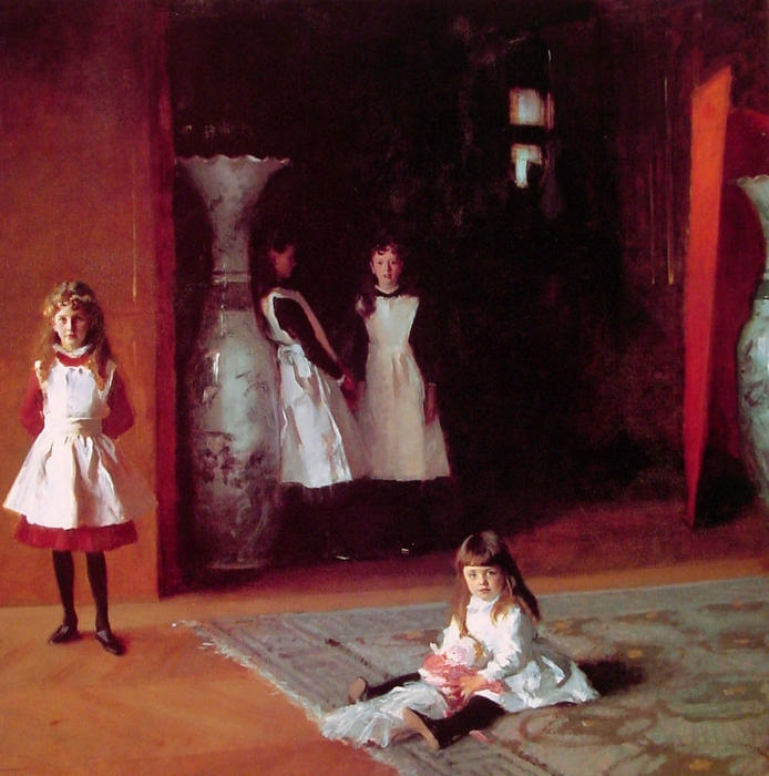 The Daughters of Edward Darley Boit, Oil On Canvas by John Singer Sargent (1856-1925, Italy)
