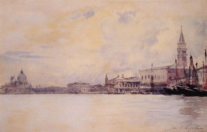 John Singer Sargent - The Entrance to the Grand Canal, Venice
