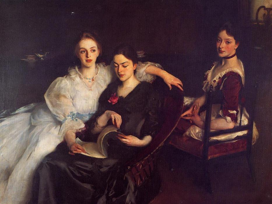 The Misses Vickers, 1884 by John Singer Sargent (1856-1925, Italy) | Famous Paintings Reproductions | WahooArt.com