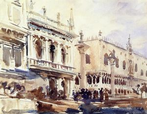 John Singer Sargent - The Piazzetta and the Doge-s Palace