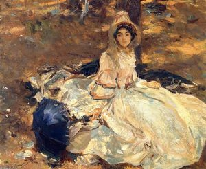 John Singer Sargent - The Pink Dress